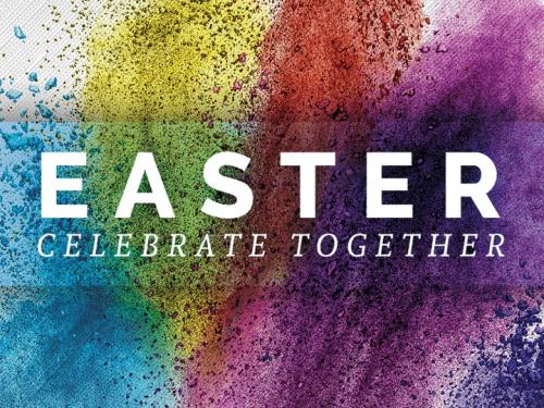 Easter Powder Paint PowerPoint Template 1