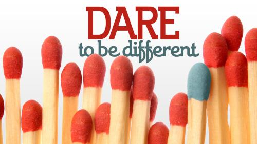 Dare to  Be  Different PowerPoint Template 1