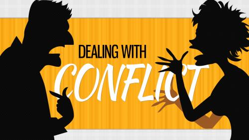 Dealing  With  Conflict PowerPoint Template 1