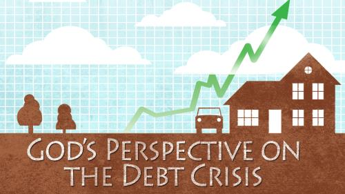 Debt  Crisis PowerPoint Template 1