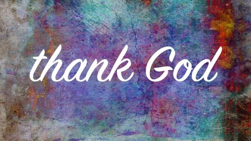 Thank God - Colossians 1 PowerPoint Template 1