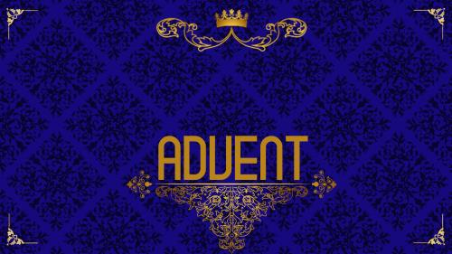 Advent Royal - Hope PowerPoint Template 2