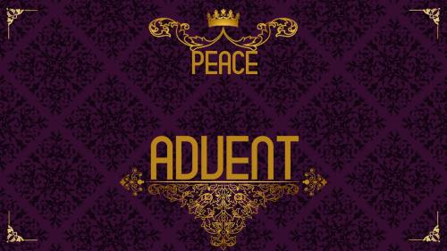 Advent Royal - Peace PowerPoint Template 1