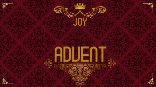 Advent Royal - Joy PowerPoint Template 1