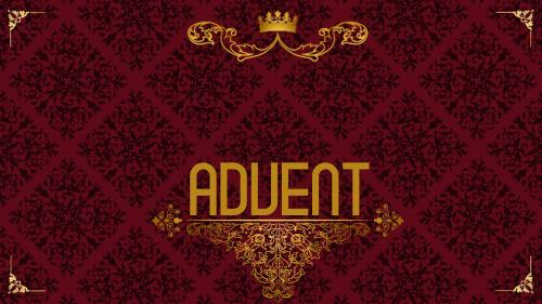 Advent Royal - Joy PowerPoint Template 2