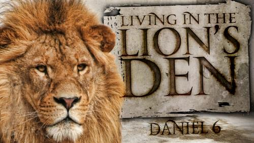 Den of  Lions PowerPoint Template 1