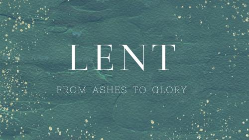 Lent: From Ashes to Glory - Royal Blue PowerPoint Template