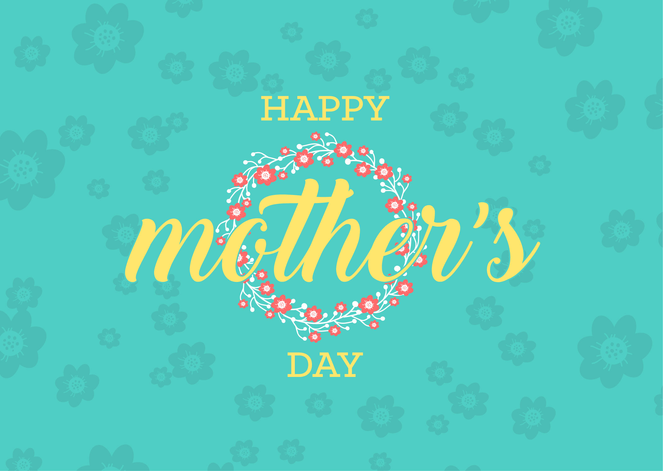 Mother's Day Floral  PowerPoint Template 1