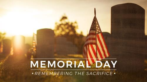 church powerpoint template memorial day remembering the sacrifice