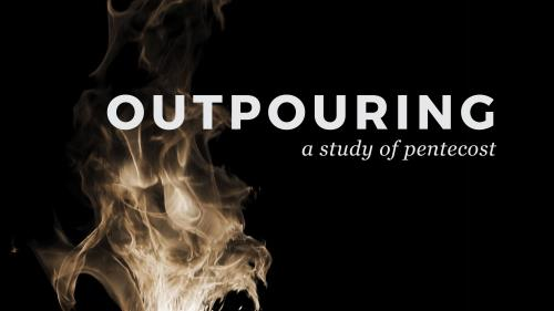 Pentecost - Outpouring PowerPoint Template 1