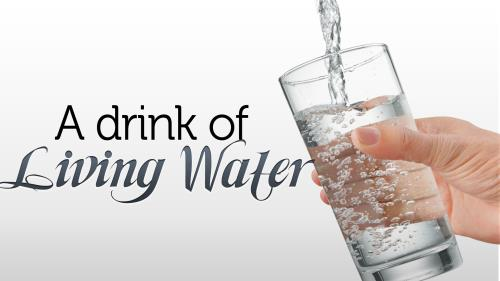 Drink of  Living  Water PowerPoint Template 1