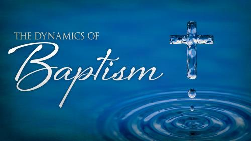 Dynamics of  Baptism PowerPoint Template 1