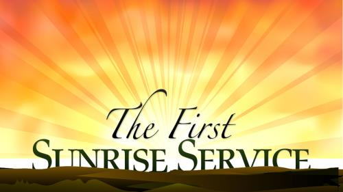 Church Powerpoint Template Easter Sunrise Service  SermoncentralCom