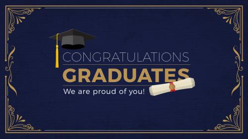 Graduation (Congrats) PowerPoint Template 1