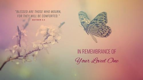 Funeral - Butterfly PowerPoint Template 1