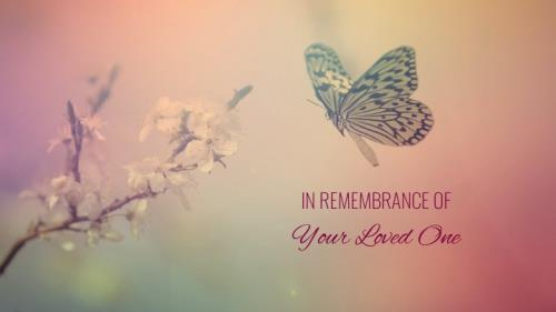 Funeral - Butterfly PowerPoint Template 2