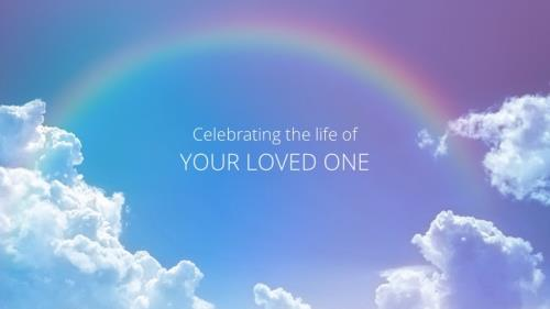 Funeral - Rainbow PowerPoint Template 2