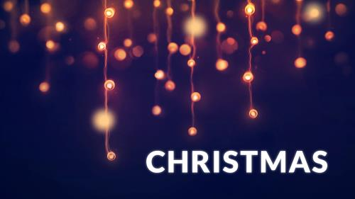 Christmas Bokeh PowerPoint Template 2