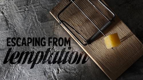 Escaping  From  Temptation PowerPoint Template 1