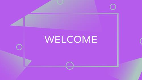 Abstract Purple PowerPoint Template 6