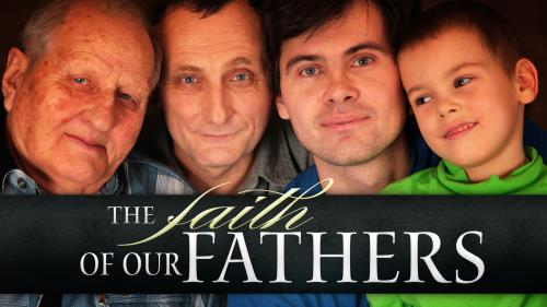 Faith of our  Fathers PowerPoint Template 1