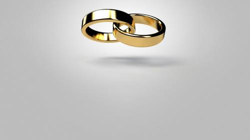 Marriage Rings PowerPoint Template 7
