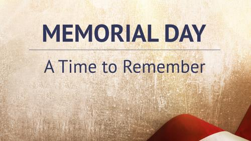 church powerpoint template memorial day a time to remember