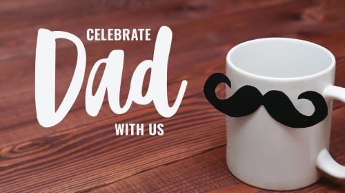 Dad Mustache Mug: Father's Day PowerPoint Background