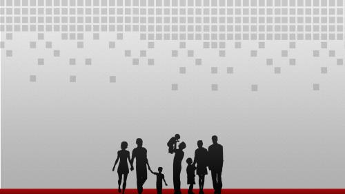 Family  Silhouettes PowerPoint Template