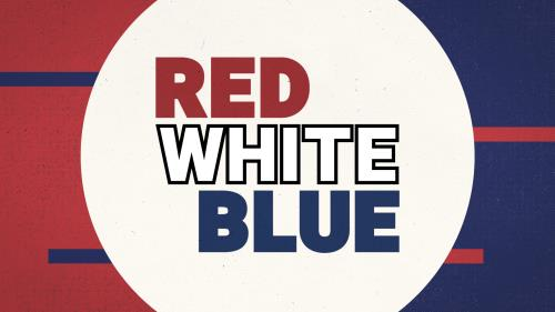 Red White Blue PowerPoint Template 1