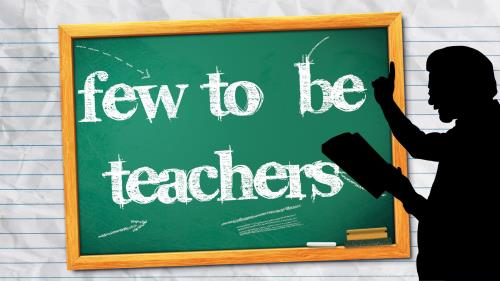 Few to  Be  Teachers PowerPoint Template