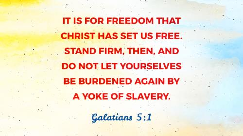 Freedom In Christ Preaching Slide
