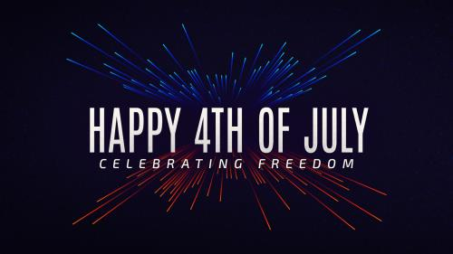 Independence Day Bright Lights PowerPoint Template 2