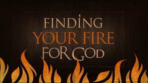 Fire  For  God PowerPoint Template 1
