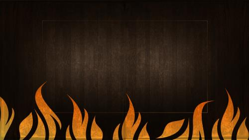 Fire  For  God PowerPoint Template 2