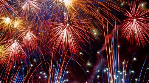 Fireworks PowerPoint Template 4