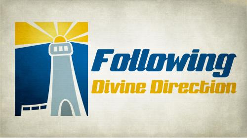 Following  Divine  Direction PowerPoint Template 1