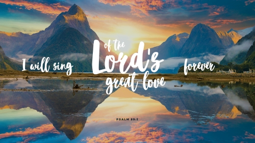 Lord's Great Love PowerPoint Template 1