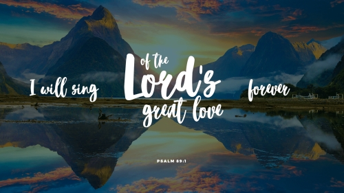 Lord's Great Love PowerPoint Template 2