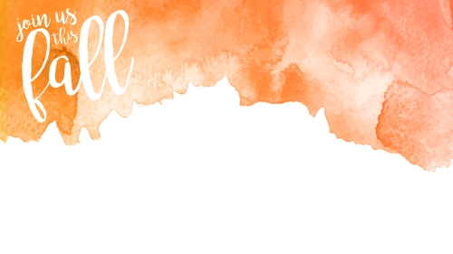 church powerpoint template  fall orange watercolor