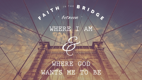 Faith Is The Bridge PowerPoint Template 1