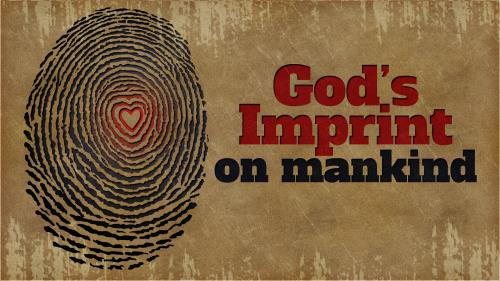 Gods  Imprint on  Mankind PowerPoint Template 1