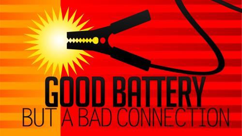 Good  Battery  Bad  Connection PowerPoint Template 1