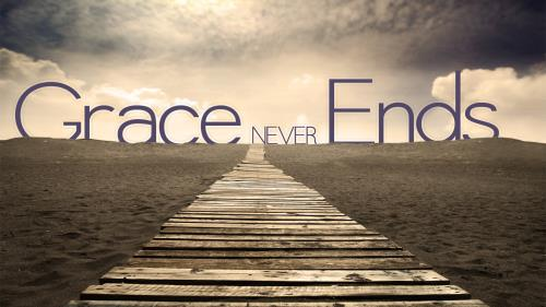 Grace  Never  Ends PowerPoint Template 1