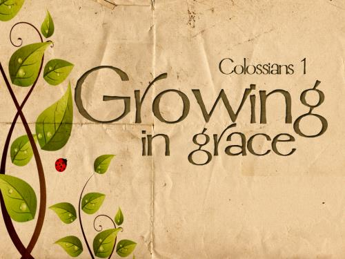 Growing in Grace PowerPoint Template