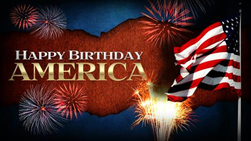 Happy  Birthday  America PowerPoint Template 1