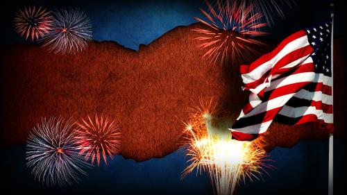 Happy  Birthday  America PowerPoint Template 2