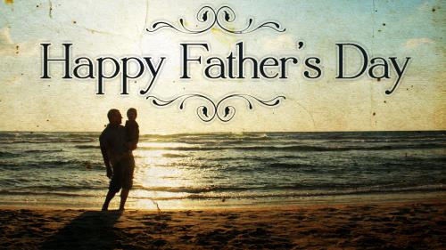 Father's Day Beach PowerPoint Template 1