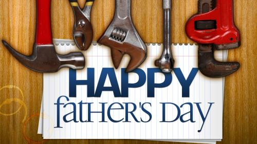 Father's Day Tools PowerPoint Template 1