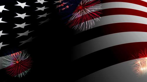 Independence Day Fireworks PowerPoint Template 4